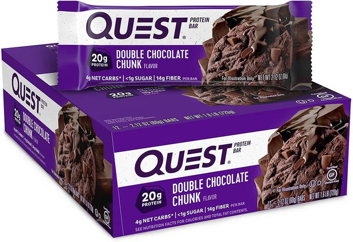 Our Top Ranked Food Bar: Double Chocolate Chunk Quest Nutrition Protein Bars