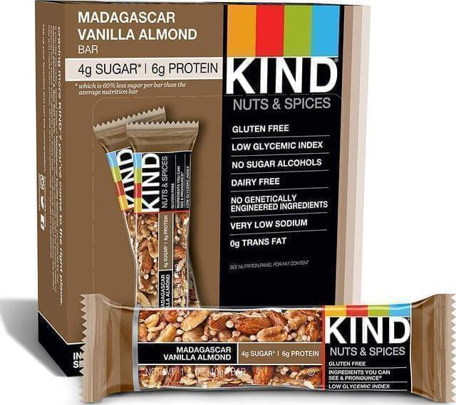 Our Top Ranked Nut Bar: Madagascar Vanilla Almond KIND Bars